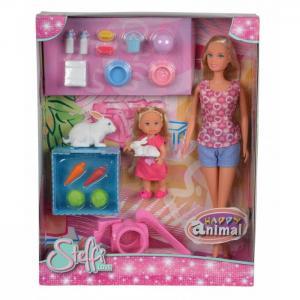 Кукла и Еви с кроликами Steffi