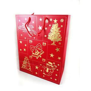 Новогодний сувенир - сумочка, из бумаги, 26*33*13,6 см, 10 штук в полибеге MAG2000