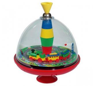 Развивающая игрушка  Юла большая со звуковым эффектом Железная дорога 19 см Bolz