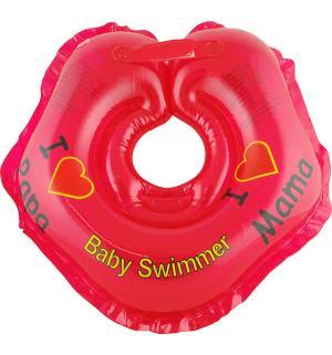 Круг  На шею, цвет: красный Baby Swimmer