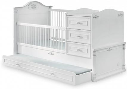 Кроватка-трансформер  Romantic с выдвижным спальным местом 131х80/177х80 см Cilek