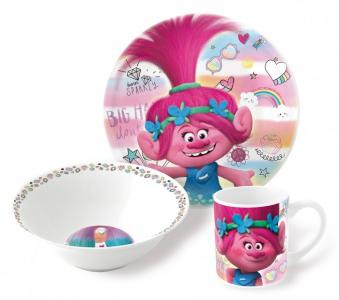 Набор посуды керамической Тролли Краски (3 предмета) Stor