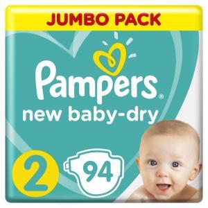 Подгузники  New Baby-Dry Размер 2 (Mini) (4-8 кг) 94 шт. Pampers