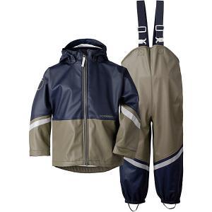 Комплект Didriksons Waterman: куртка и полукомбинезон. Цвет: оливковый