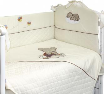 Комплект в кроватку  Мишутка на бревнышке (5 предметов) Labeille