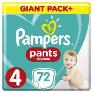 Трусики-подгузники  Pants, р. 4, 9-15 кг, 72 шт Pampers