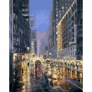 Картина по номерам на подрамнике Улица города 50х40 см Color Kit