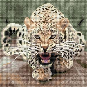 Картины мозаикой Леопард 30х30 см Molly