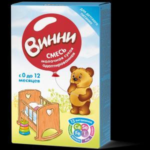Молочная смесь  адаптированная 0-12 месяцев, 350 г Винни