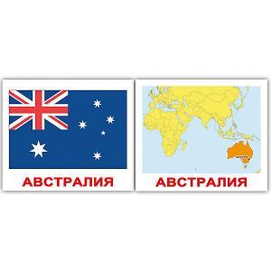 Набор обучающих мини-карточек  Страны. Флаги. Столицы 40 штук Вундеркинд с пелёнок