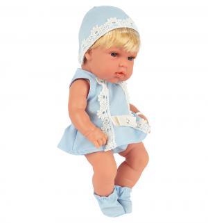 Пупс  блондинка в голубом платье со стразами Swarowski 33 см Arias