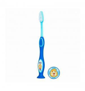 Зубная щетка  с присоской, 3 лет, цвет: голубой Chicco