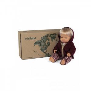 Кукла Мальчик Европеец с комплектом одежды 38 см Miniland
