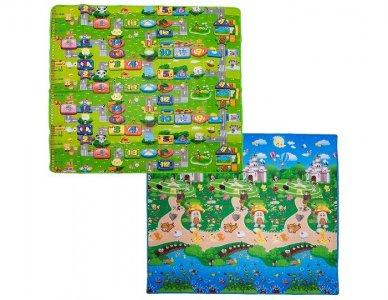 Игровой коврик  Забавный лабиринт и Прогулки в парке 200х180х1 см BabyPol