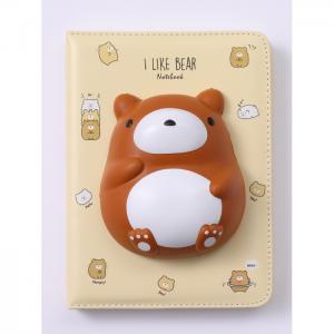 Блокнот со сквишем Медвежонок I Like Bear А5 Mihi