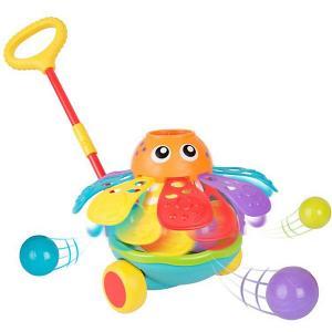Каталка  Осьминог на палочке Playgro. Цвет: разноцветный
