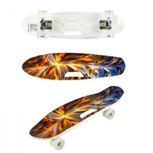 Скейтборд пластиковый со светом Т17042 Navigator