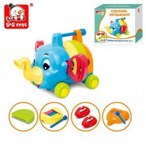 Развивающая игрушка  Набор инструментов 5 в 1 Слоник-музыкант Bambini