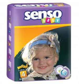 Подгузники  Maxi (7-18 кг) 66 шт. Senso Baby