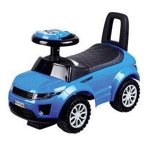 Машина-каталка  с музыкой и светом, синяя Bugati