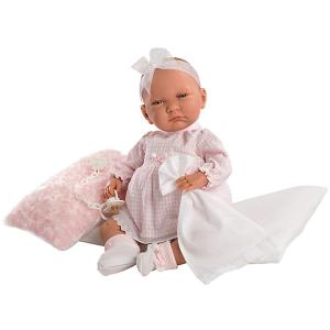 Кукла  Лала, 42 см, озвученная Llorens. Цвет: розовый