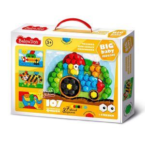 Мозаика классическая  Baby toys «Трактор» 107 элементов Десятое Королевство