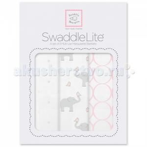 Пеленка  SwaddleLite Elephant/Chickies комплект 3 шт. SwaddleDesigns