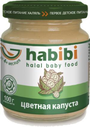 Пюре  Халяль цветной капустой с 4 месяцев, 100 г Habibi