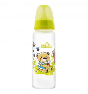 Бутылочка  с силиконовой соской полипропилен рождения, 250 мл, цвет: зеленый Мир Детства