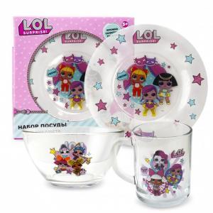 ND Play Набор посуды из стекла L.O.L. Surprise №1 (3 предмета)