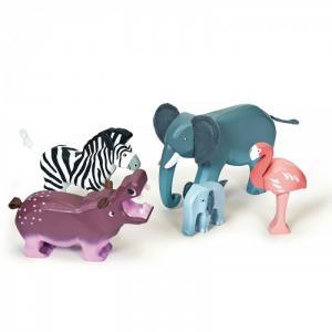 Деревянная игрушка  Игровой набор Дикие животные LeToyVan