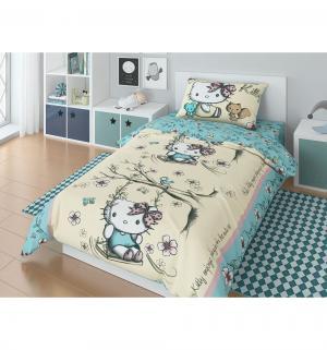 Комплект постельного белья  Hello Kitty Summer, цвет: голубой 3 предмета Нордтекс