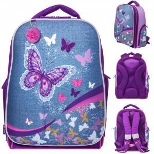 Рюкзак для девочки Expert collection Denim Butterfly жесткий каркас 41х31х23 см Tiger Enterprise