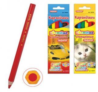 Карандаши цветные  Котята Автомобили Пифагор