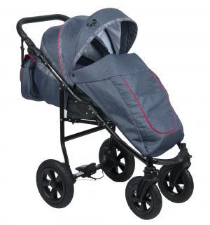 Прогулочная коляска  Panda, цвет: джинс/красный Prampol