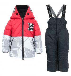 Комплект куртка/полукомбинезон , цвет: красный Boom By Orby