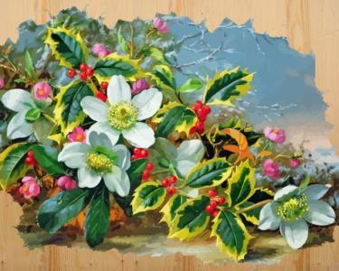 Картина по номерам на дереве Морозный букет Color Kit
