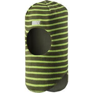 Шапка-шлем  для мальчика Lassie. Цвет: зеленый