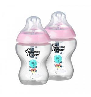 Бутылочка  Closer to nature антиколиковая пластик с рождения, 260 мл, цвет: розовый Tommee Tippee