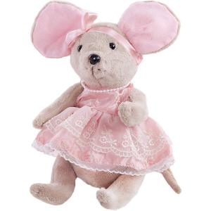 Мягкая игрушка  Мышка шарнирная Зефирка в розовом платье, 25 см Angel Collection. Цвет: разноцветный