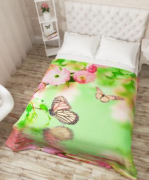 Покрывало Бабочки и цветы Сирень