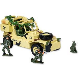 Радиоуправляемая машина  Army Военный джип, 1:20, свет, звук Mioshi