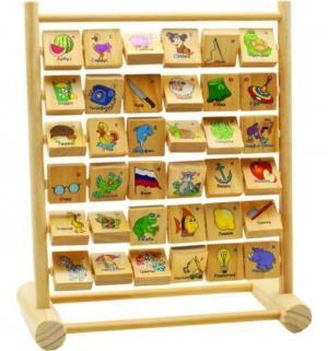 Развивающая игрушка  Счеты-алфавит 31 см Мир Деревянных Игрушек