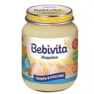 Пюре  индейка с 6 месяцев, 100 г Bebivita