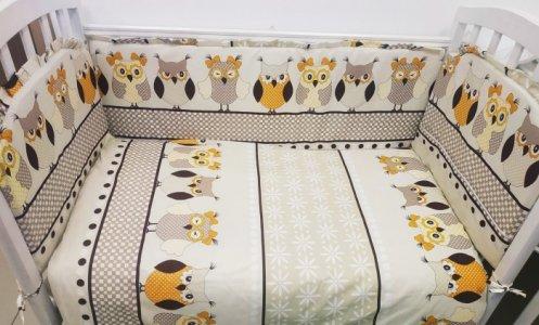 Комплект в кроватку  Совята (6 предметов) Сонная сказка
