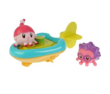 Игрушка для ванны пластизоль Малышарики Лодка Ежик и Нюшенька 4.5 см Капитошка