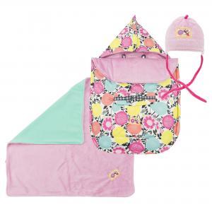 Комплект (конверт, одеяло, и шапка)  фиолетового цвета DEUX PAR. Цвет: фиолетовый