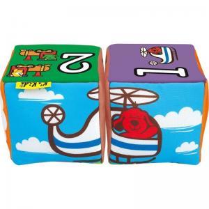 Мягкие кубики Ks Kids Совмести-ка музыкальные Транспорт K's