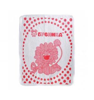 Клеенка  двуслойная, 1 шт, цвет: розовый Бусинка