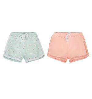 Комплект шорты 2 шт  Городская линейка, цвет: розовый/голубой Happy Baby
